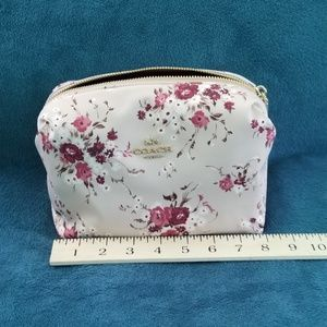 Large Floral Print Coach Cosmetic Case.